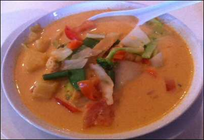 Pineapple Curry at Bangkok Thai Cuisine in Dover