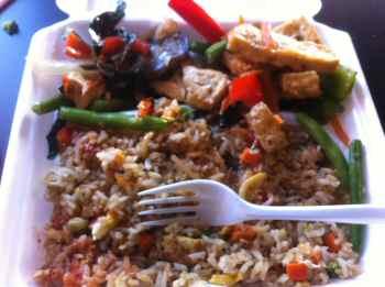 Jeenwong Thai Cuisine Thai Eggplant Tofu Curry & Fried Rice with Egg