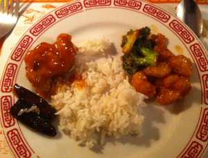 Szechuan Restaurant Fried Shrimp, TSO Chicken