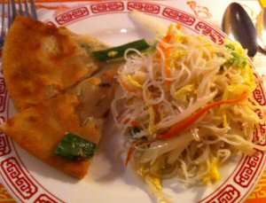 Szechuan Restaurant Scallion Pancakes, Rice Noodles