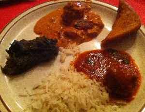 Taj Palace Chicken Entrees