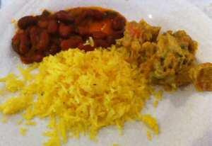 Akbar Kidney Beans, Mixed Veg Korma