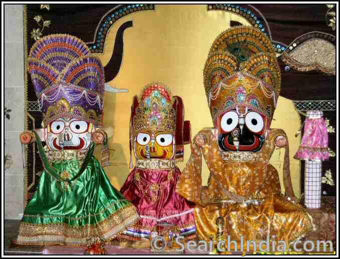 Balabhadra, Subhadra & Jagannath, Shiva Vishnu Temple, Parma