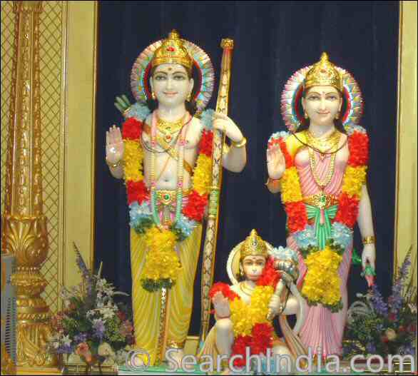 Rama, Sita, Hanuman Cherry Hill Temple