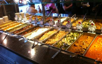 Buffet Station at Tawa Tandoor, Jackson Heights