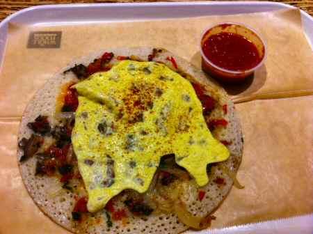 dosateria breakfast utappam tomato mustard chutney