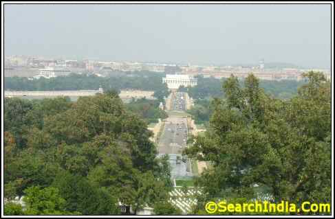 View of Washington DC From Arlington Memorial