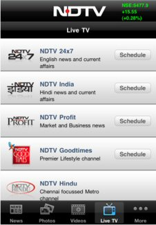 NDTV-Live on iPhone 4 Review - Yet Another Mediocre App