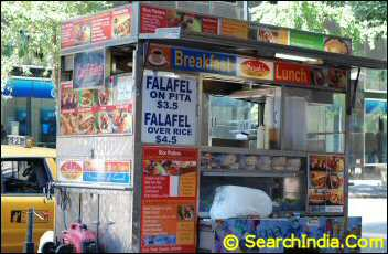 Falafel Food Cart in NYC