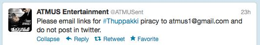 Report Thuppakki Piracy