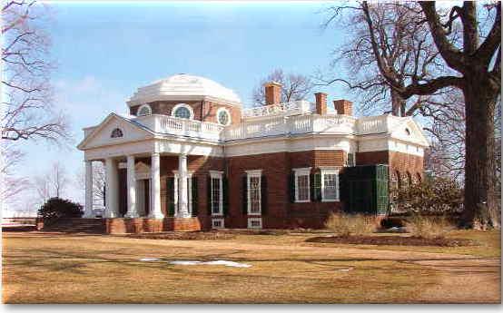 Thomas Jefferson's Home in Monticello, VA