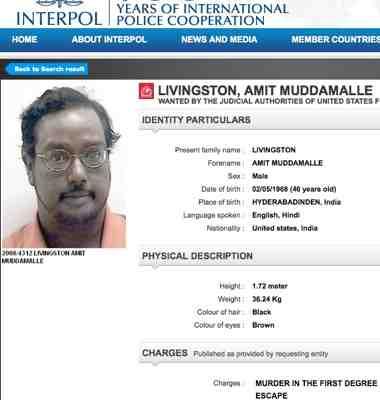 Telugu Murderer Amit Muddamalle Livingston Captured