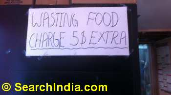 Bengali Sweet House Extra Charge for Wasting Food