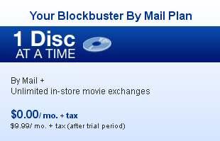 Blockbuster Six-Months Free DVD Rental Deal