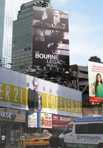 Bourne Legacy Poster in Midtown Manhattan