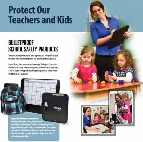 Bulletproof Devices for School Children & Teachers