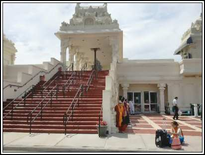 Chicago Balaji Temple Steps