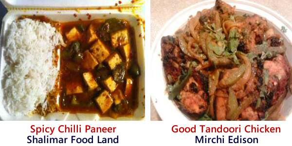 Shalimar Food Land Chilli Paneer, Mirchi Andhra Tandoori Chicken