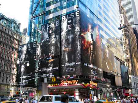 Dark Knight Rises Posters in NYC - SearchIndia.com Blog