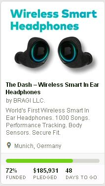 Dash Wireless Headphones - Big Hit at Kickstarter
