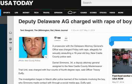 Deputy Attorney General Daniel Simmons Charged with Rape of Young Boy