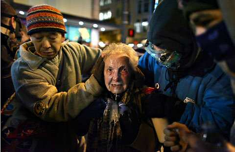 84-year-old Protester Dorli Rainey Pepper Sprayed by Seattle Police