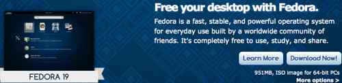 Fedora Linux 19 with KDE Graphical Interface
