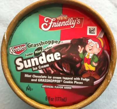 Friendly's $1 Mint Chocolate Fudge Sundae Ice Cream
