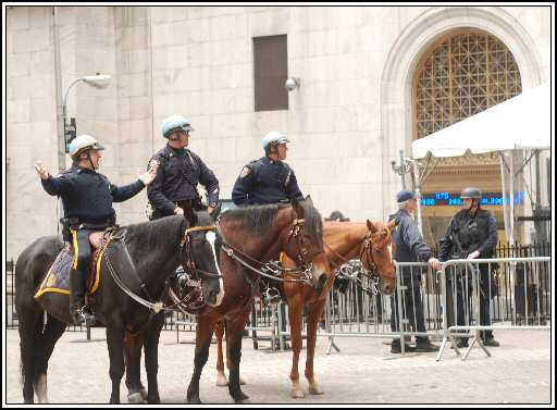 Mounted NYC Policemen on Wall Street