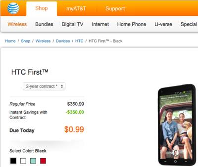 HTC First Now Going for 99-Cents