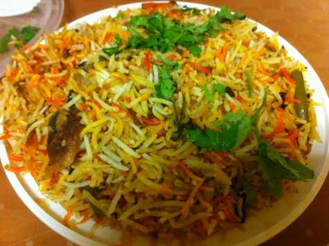 Hyderabadi Delights Iselin Dum Vegetable Biryani - © SearchIndia.com