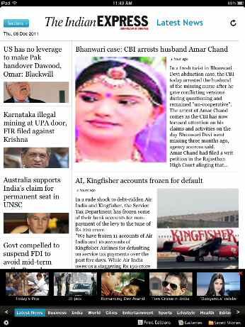 Indian Express iPad Version