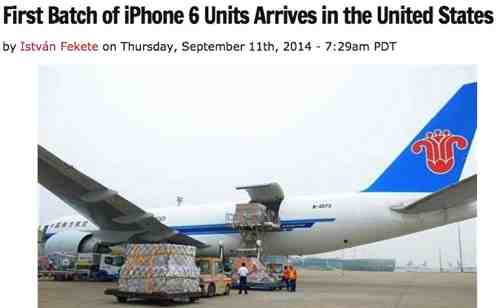 Ha Ha Ha - iPhones Arrive in US