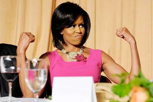 Michelle Obama Flexing her Biceps