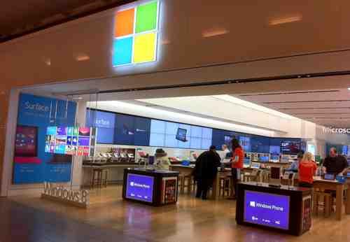 Microsoft Store Deserted