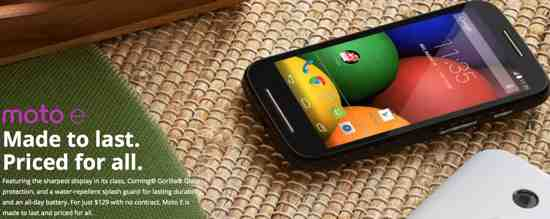 $129 Moto E Launched in India