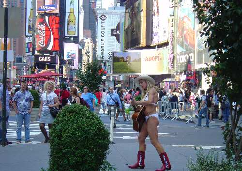 Charming Sight in Times Square NYC