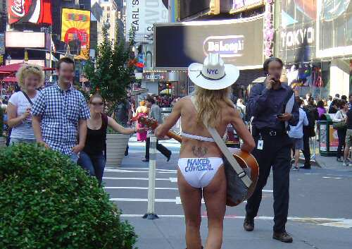 Charmer in Times Square NYC
