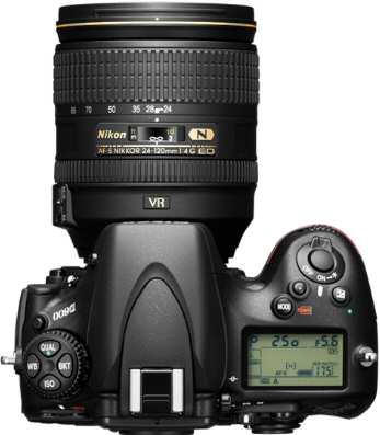 Nikon D800 D-SLR Camera Top