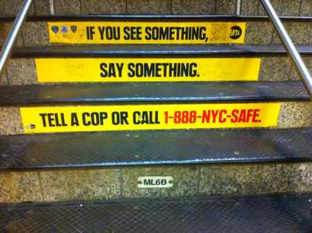 Times Square Subway Station Steps © Searchindia.com