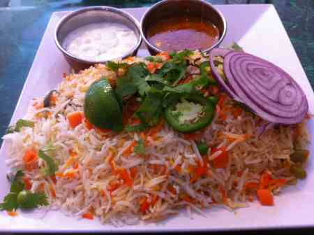Paradise Biryani Pointe NYC Vegetable Biryani - © SearchIndia.com