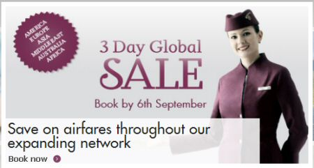 Qatar Airways 3 Day Global Sale