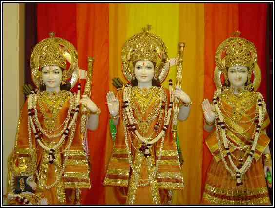 Hindu Gods Ram, Lakshman, Sita and Hanuman