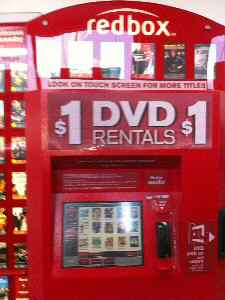 RedBox DVD Rental Kiosk in the U.S.
