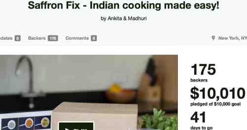 Saffron Fix Successfully Kickstarted