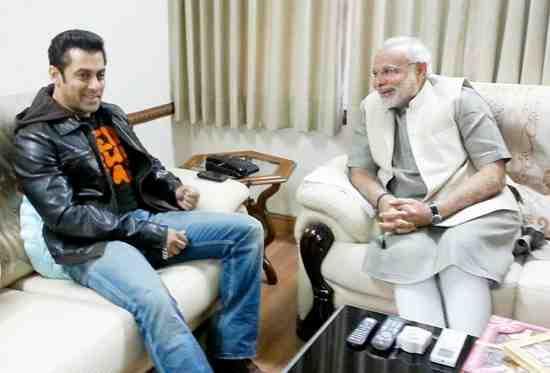 Narendra Modi Meets Salman Khan