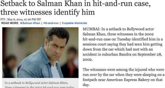 Witnesses See Salman Khan's Hit and Run