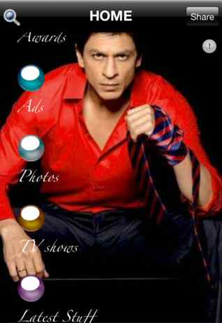 Shah Rukh Khan App on iPad Review by SearchIndia.com