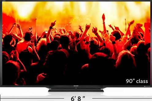 Sharp AQUOS LED TV LC-90LE745U - World's Largest TV
