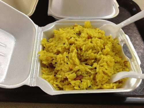 Sri Siva Vishnu Temple Lemon Rice - © SearchIndia.com